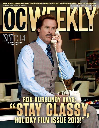 "Ron Burgundy Says ""Stay Classy"""