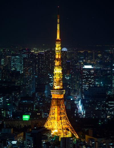 View of Tokyo Tower from Roppongi Hills Sky Deck