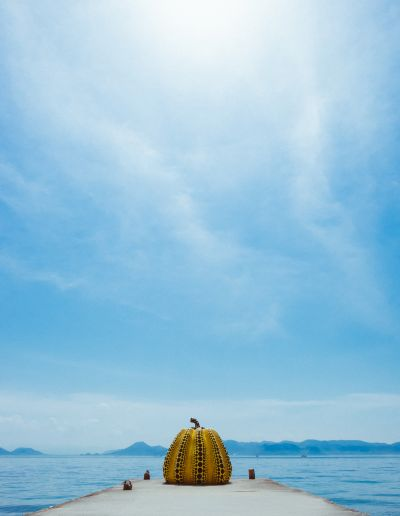 Yellow Pumpkin from artist Yayoi Kusama