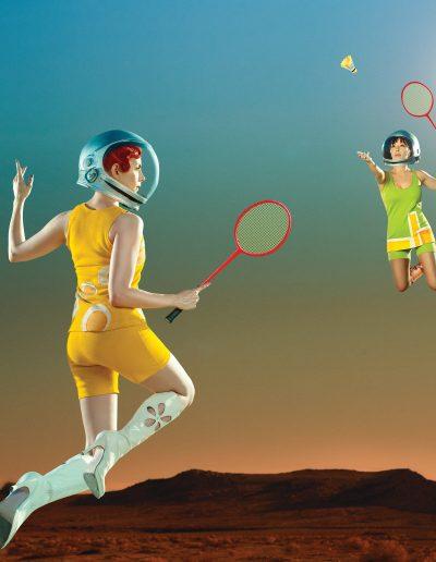Cosmic Badminton